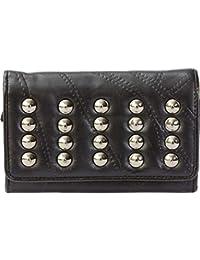 0965118ff4 Italian Stone Design Genuine Lambskin Leather Wallet with Studs - LUWALSTD