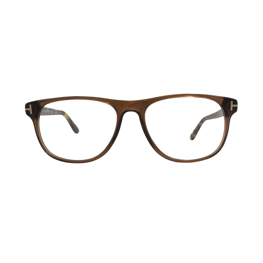 06fc2e8dab Tom Ford Oval Eyeglasses TF5362 020 Opal Gray Blue Horn 55mm FT5362 at  Amazon Women s Clothing store