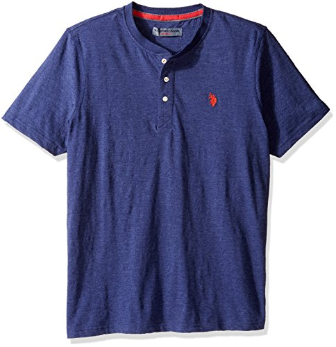 U.S. Polo Assn. Mens Solid Long Sleeve Henley Slim Fit T-Shirt