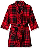 Petit Lem Kids' Little Holiday Unisex Hooded Robe, Comfy, Cute and Cozy Softness, red, 8