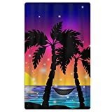 SARA NELL Adults Beach Towel Hawaii Sea Palm Trees Quick Dry Microfiber Lightweight Beach Blanket For Swimming Pool Yoga Camping Beach Gym Sport Oversized-32 X 51''