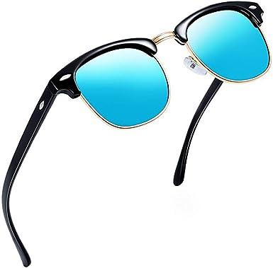Aisprts Gafas de sol polarizadas retro medio marco clásico para ...