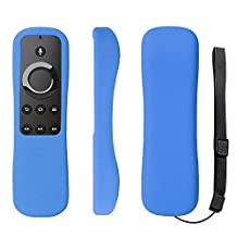 New Amazon Fire TV Stick With Voice Remote Case SIKAI Patent Amazon Fire TV Stick Remote Silicone Case for Amazon Fire TV Stick Remote Protector Case with Hand Strap Included (Voice Remote, Blue)