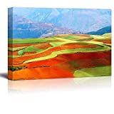 Canvas Prints Wall Art - Beautiful Fields Landscapes in Yunnan Province, Southwest of China - 24'' x 36''