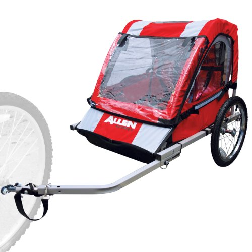 Allen Sports Steel Bicycle Trailer, Safe Lightweight Comfortable and Durable – 2 Child Seat (up to 100 pounds)