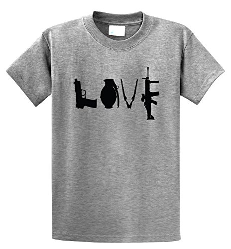 Comical Shirt Men's Gun Love T Shirt Pistol Rifle 2nd Amendment Sport Grey L