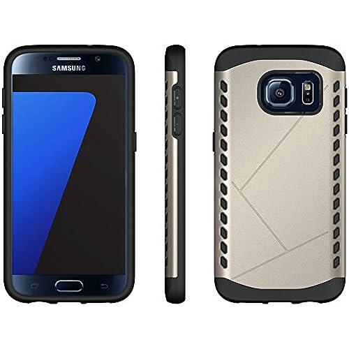 Galaxy S7 Case, Maxdara Heavy Duty Defender Case Super Slim Dual Layer Shockproof Case Drop Protection Super Protective for Samsung Galaxy S7 (Golden) Sales