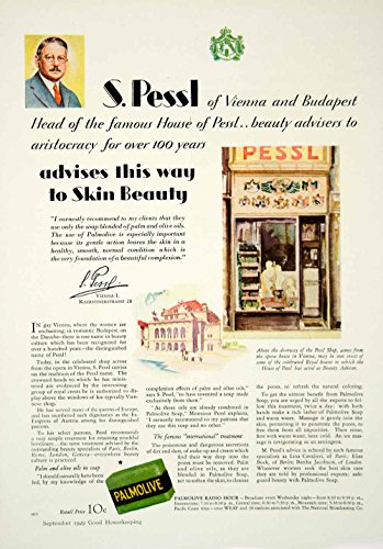 1929 Ad Pessl House Beauty Products Vienna Italy Storefront Palmolive Soap YGH3 - Original Print (Vienna Soap)