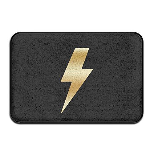 VDSEHT ACDC Ac Dc Lightning Bolt Gold Logo Non-slip Doormat (Bon Vintage Clock)
