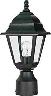 Nuvo Lighting 60 548 One Light Post LanternAmazon com   Design House 501932 Lamp Post with Cross Arm and  . Outdoor Light Pole Electrical Outlet. Home Design Ideas