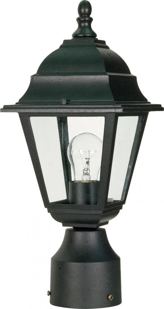 Nuvo Lighting 60/548 One Light Lantern Post Mount, Black