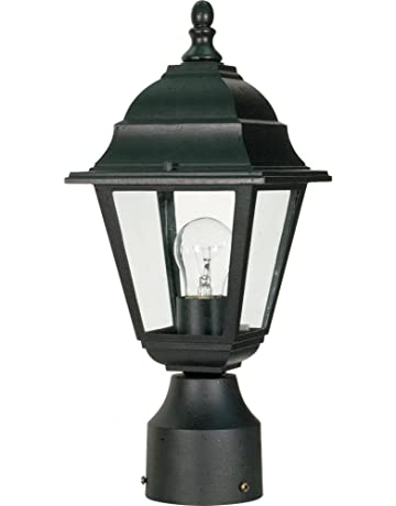 outdoor post light fixture led white mount price2698 outdoor post lights amazoncom