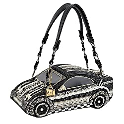 Race Car Beaded Top Handle Bag