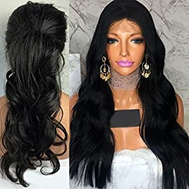 Wicca Human Hair Body Wave Lace Front wigs Guless Brazilian Virgin Hair Body Wave Human hair wig With Baby Hair Bleach…