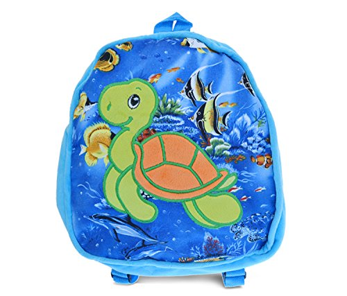 [Puzzled Sea Turtle Kids Blue Backpack, 11