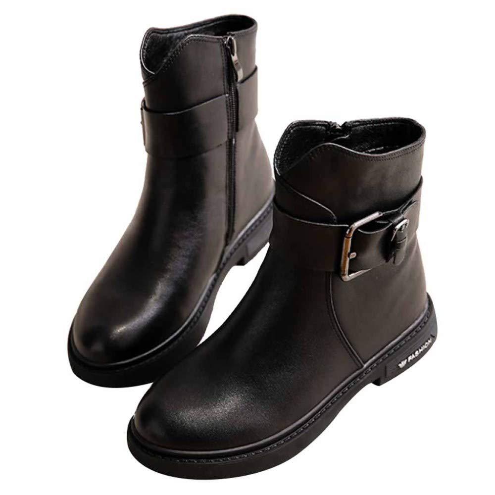 Loafer Flats Damen Stiefel Damen Leder Stiefeletten Einfache Schnalle Und Fashion Design Work Utility Schuhe