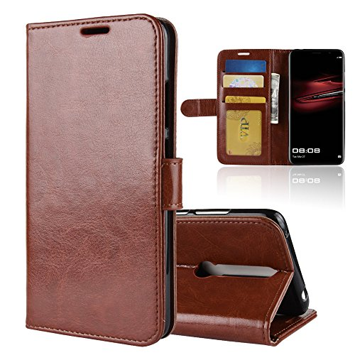 Scheam for Huawei Mate RS Porsche Design Case, [Extra Card Slot] [Wallet Case] PU Leather TPU Casing Closed [Drop Protection] Case Compatible with Huawei Mate RS Porsche Design, Brown