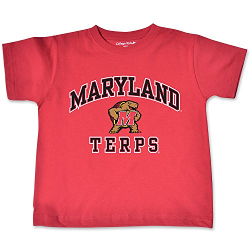 College Kids NCAA Maryland Terrapins Toddler Short Sleeve Tee, 5/6 Toddler, Red
