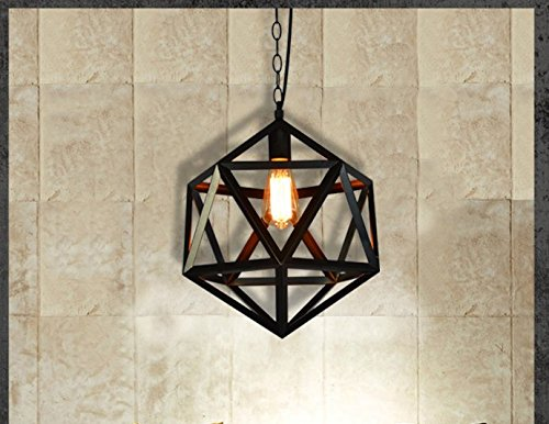 - CLG-FLY Nordic Industrial Wind Creative Loft-Style Wrought-Iron Bar Single-Head Restaurant Personality Art Diamond Birdcage Chandelier,Diameter Of 55Cm,with best service