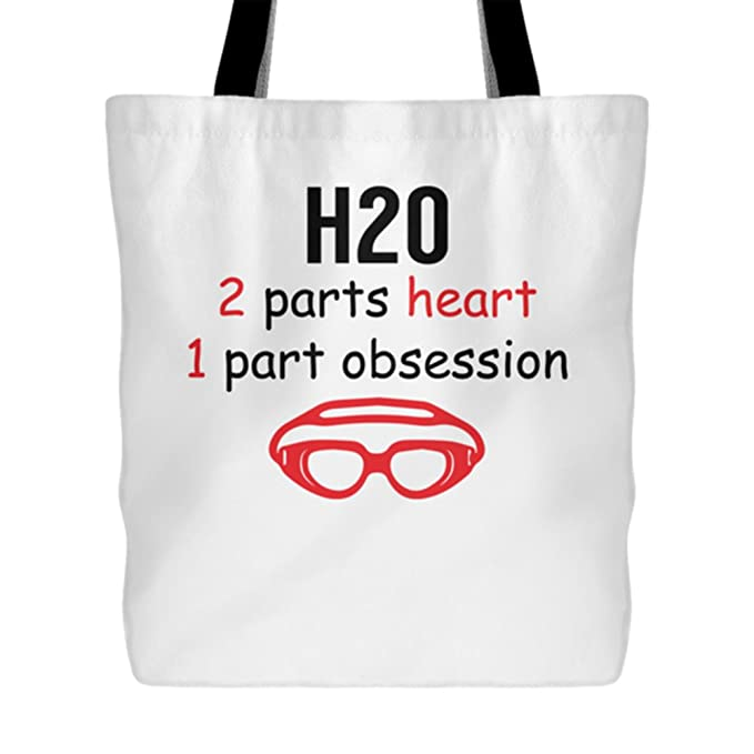 Amazon.com: H2O 2 Parts Heart 1 Part Obsession - Swimming Tote Bag ...