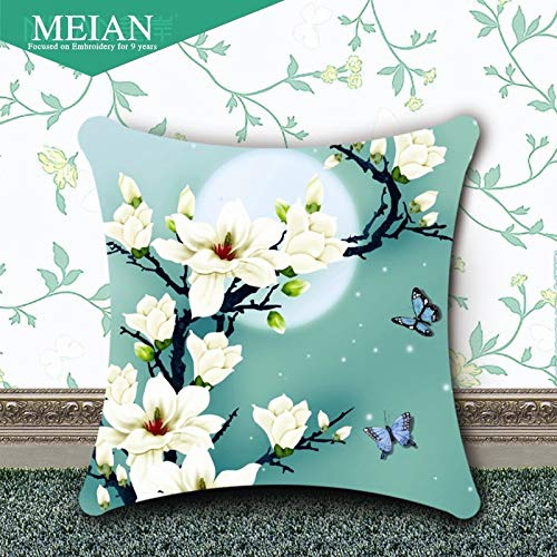 Cross Stitch -, Flowers 3D Accurate Printing Cross Stitch Pillow On A New Jade Orchid Living Room Sofa Cushion Pillow Pillow - Needlepoint Pillow Orchid