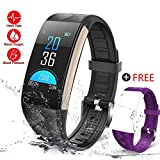 GTBonad 2018 News Fitness Tracker Heart Rate Monitor Activity Band Blood Pressure Sleep Monitor Pedometer, 0.96inch TFT Colorful OLED Screen Waterproof Bluetooth Smart Bracelet for Kids Women Men