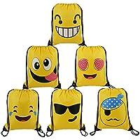 Cute-Emoji-Party-Supplies-Favors-Bags Drawstring Backpacks for Teens