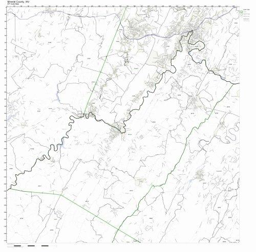 West Virginia Zip Code Map - Mineral County, West Virginia WV ZIP Code Map Not Laminated