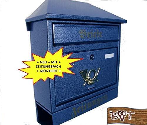 Grand Boîte aux Lettres XXL Porte-Journaux Design Rétro 3 Couleurs 2