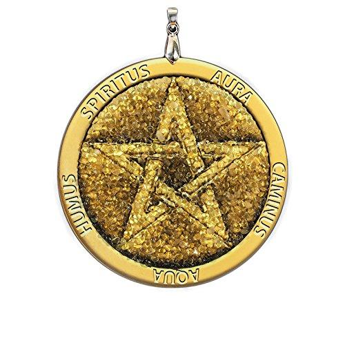 charme fait /à la main Amulette ambre pentagramme pour la protection Wicca spirituel pa/ïen