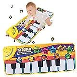 Maphissus Musical Pinao Mat Music Keyboard Mat Blanket Touch Play Learn Singing Gift Carpet Kids Toy, 5 (Keyboard mode, Monosyllabic mode, Animal mode, Melody Mode, Animal sing mode