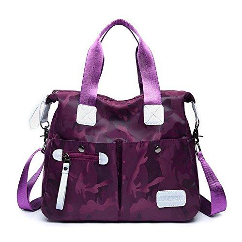 trabajos acampan de recorrido que del YAN de Color mensajero de bolsillos bolso de de nylon salir casuales del Bolsas múltiples para hombro cuerpo las Púrpura Blue cruzado mujeres qtUtSnBx