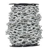 Campbell 0722227 System 3 Grade 30 Low Carbon Steel Proof Coil Chain on Reel, Zinc Plated, 5/16'' Trade, 0.31'' Diameter, 60' Length, 1900 lbs Load Capacity