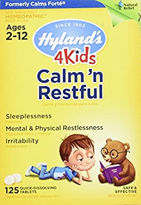 Hyland's 4 Kids Natural Calm'n Restful Tablets, Natural Symptomatic Relief of Sleeplessness and Restlessness in Kids