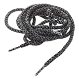 TOOGOO(R) Round Rope 3M Reflective Runner Running Sport Shoe Laces Shoelaces(A-Style Black)