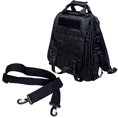 LarKoo 3 in 1 Sling Backpack Handbag Messenger Inclined Shoulder Bag -  Outdoor Multifunction Military Tactical 1585659840891
