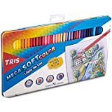 Lápis De Cor Escolar 72 Cores + Apontador