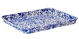 Enamelware Jelly Roll Tray - Blue Marble