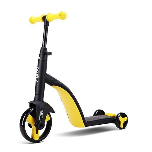 YWEIWEI 3 en 1 Niños Patinetes Kickboard + Triciclo + ...