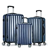 Fochier Carry on Luggage Lightweight Hardside 3 Piece Set Expandable Spinner Suitcase