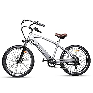 Trekpower 500W Powerful Electric Bike Fat Tire Electric Bicycle 26″ Dual Disc Brake Electric Bikes for Adults Beach Snow Ebike with 48V 10AH Battery