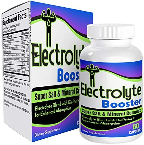 Electrolyte-Booster for Hydration Stamina – Electrolyte Supplement Capsules Natural Electrolytes
