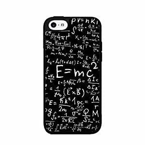 Albert Einstein Math Equations - Plastic Phone Case Back Cover (iPhone 4/4s)