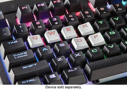CORSAIR Gaming Performance FPS MOBA Keycap Kit – for Mechanical Keyboards  – Include Key Puller - White (White Key Caps)