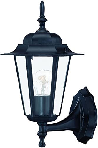 Acclaim 6101BK Camelot Collection 1-Light Wall Mount Outdoor Light Fixture, Matte Black