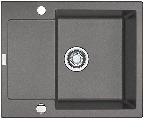 Franke Maris MRG 611-62 Graphit Granit Spülbecken Küchenspüle Auflage Drehknopf