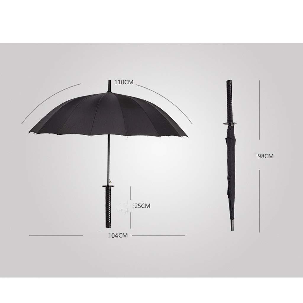 Mango Largo para Hombre Samurai Umbrella Fashion Black ...