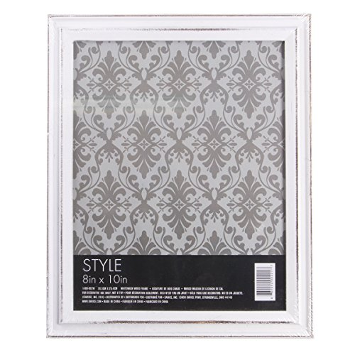 Frame Whitewash (Darice, Picture Frame, Whitewash Wood, 8 by 10 Inches)