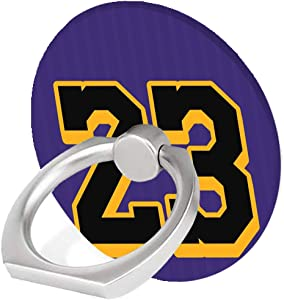 Phone Ring Holder,Purple Number 23 Pattern Design Cell Phone Ring Stand 360 Rotation Finger Ring Grip Kickstand,Compatible with iPhone,Samsung,Google,HTC,MostSmartphone,iPad