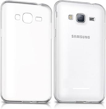 REY Funda Carcasa Gel Transparente para Samsung Galaxy J3 2016 ...
